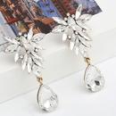 Mode couleur diamant srie multicouche alliage diamant strass fleur en forme de goutte boucles d39oreilles en gros nihaojewelry NHJE238125