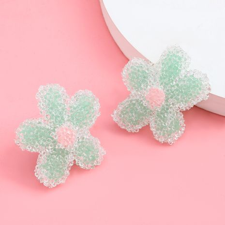 creative fashion design sense soft pottery floral flower Korean cute sweet earrings wholesale nihaojewelry NHJE238126's discount tags