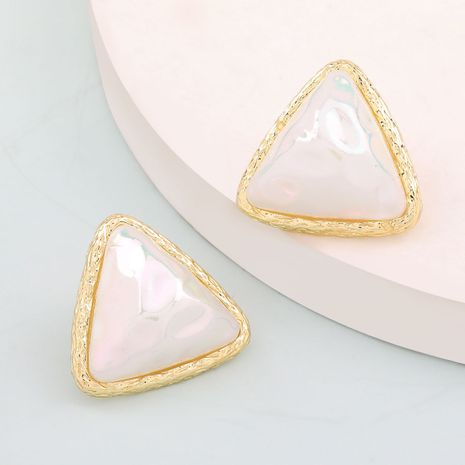 Korea Fashion Alloy Resin Round Triangle Geometric Earrings S925 Silver Needle Trendy Earrings wholesale nihaojewelry NHJE238133's discount tags