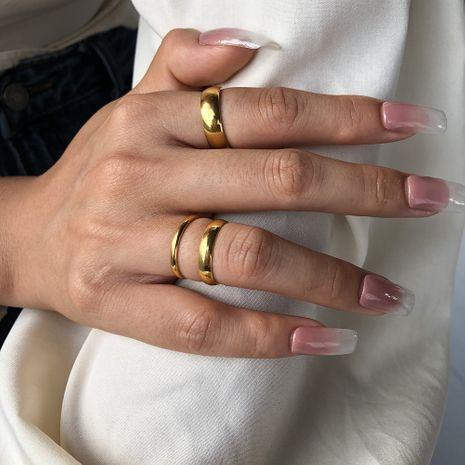 Bague en or de mode pour femmes rétro galvanoplastie bagues en or véritable vente chaude en gros nihaojewelry NHMD238163's discount tags