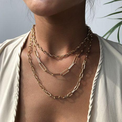 Mode Bohême accessoires de cou colliers rétro colliers en alliage collier de costume multicouche pour les femmes en gros nihaojewelry NHMD238175's discount tags