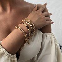 Pulsera gruesa de aleación de mujer nueva pulsera gruesa de moda nihaojewelry NHMD238182