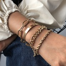 Fashion new womens bracelet alloy thick bracelet fashion gold bracelet nihaojewelry NHMD238182
