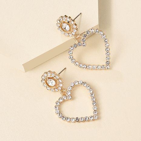 Fashion Hot Selling earrings Love Heart Shaped Diamond Earrings Fashion Full Diamond Earrings for women nihaojewelry NHMD238183's discount tags