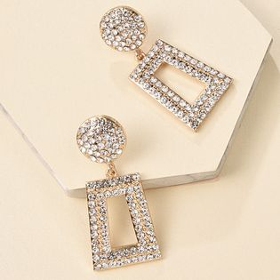 Fashion earrings long diamond geometric earrings for women fashion square earrings hot sale wholesale nihaojewery NHMD238189
