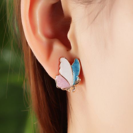 Fashion  trend  hot sale simple  sweet  delicate butterfly earrings  nihaojewelry wholesale  NHNZ238203's discount tags