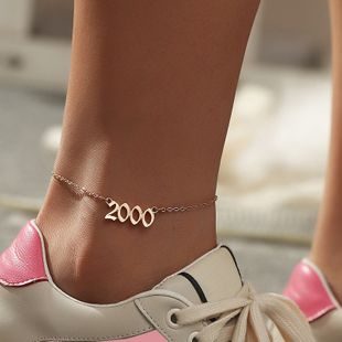 Fashion  hot-selling digital  retro simple vintage anklet  wholesale nihaojewelry NHNZ238223's discount tags