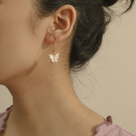 Fashion  simple acrylic retro ethnic butterfly earrings wholesale nihaojewelry NHXR238228's discount tags