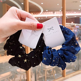 New star chiffon large intestine circle headdress sweet disc release hair scrunchies  wholesale nihaojewelry NHOF238238