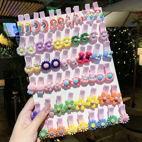 Children's hairpin set manual clip package cloth art hairpin side clip bangs clip NHNA238248's discount tags
