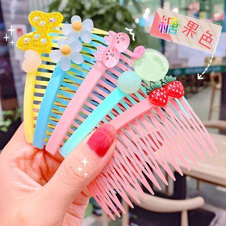 simple lindo color sólido nuevo inserto peine con incrustaciones de ladrillo horquilla clip de diente largo al por mayor nihaojewelry NHNA238253's discount tags