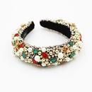 New fashion baroque headband gemstone beaded exquisite hair accessories wild trend headband wholesale nihaojewelry NHWJ238260