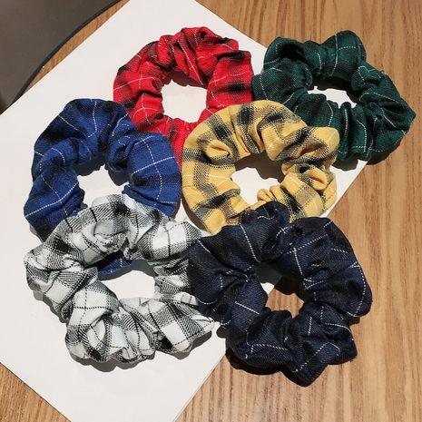 anneau de cheveux gros intestin simple coiffe à carreaux rétro français jk tissu chouchous de cheveux en gros nihaojewelry NHDQ238283's discount tags