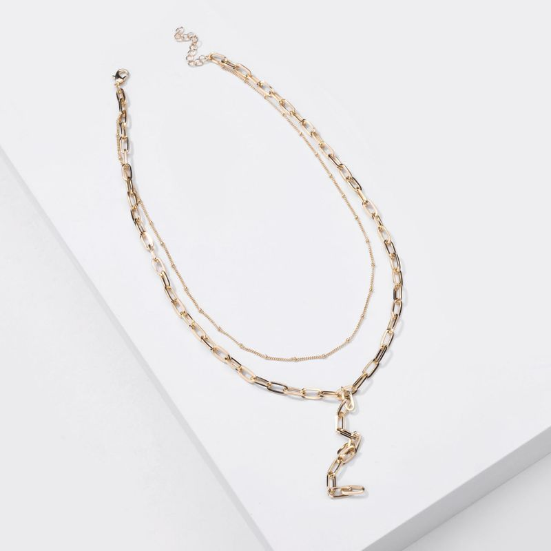 Fashion new necklaces handmade chain simple chain women's necklace two-layer necklaces all-match necklaces nihaojewelry NHLU238303