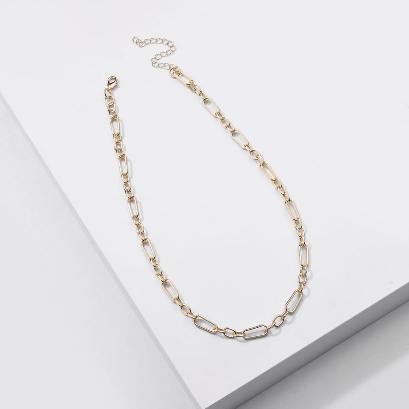Fashion new jewelry handmade chain simple chain women's necklace all-match retro necklace wholesale nihaojewery NHLU238305