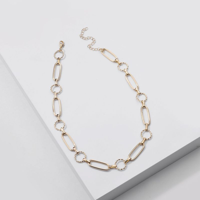 Fashion new jewelry handmade chain simple chain women's necklaces all-match simple necklaces wholesale nihaojewery NHLU238306