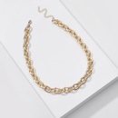 Fashion new jewelry handmade golden chain simple chain womens necklaces allmatch simple necklaces nihaojewelry NHLU238309