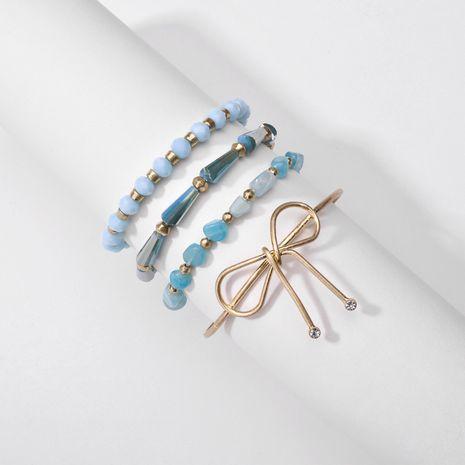 Bijoux fantaisie perles de cristal en pierre naturelle arc 4 ensembles de bracelets en cuivre pour femmes en gros nihaojewelry NHLU238312's discount tags