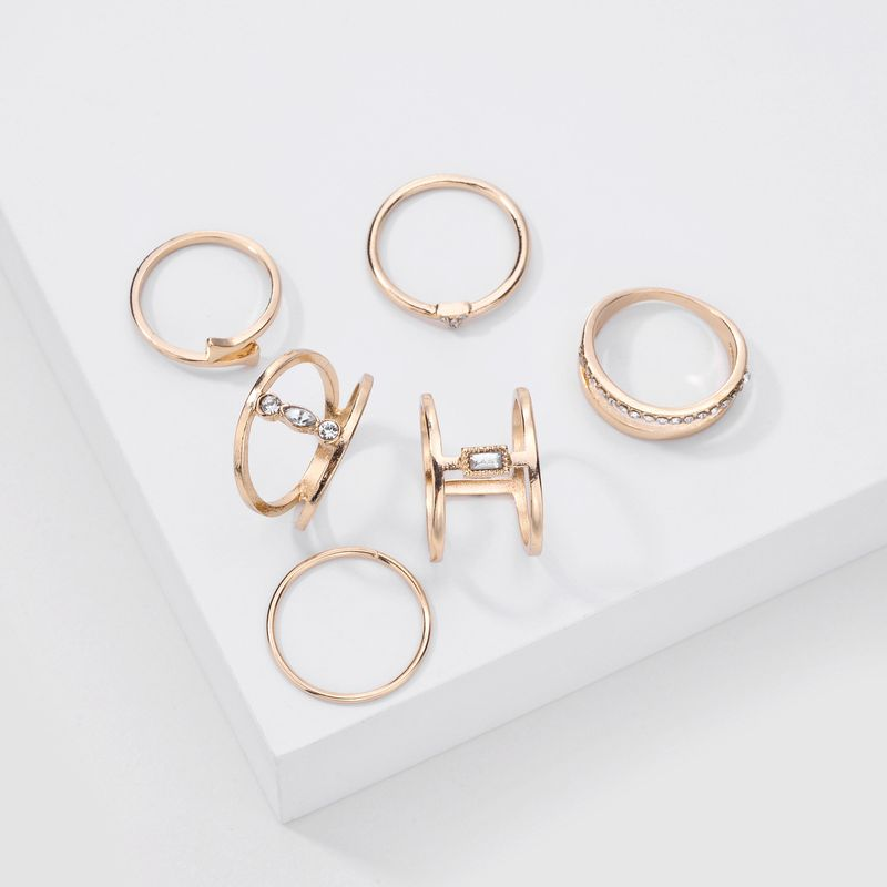 Fashion new trend jewelry 6 sets of ring for women alloy rings set  hot sale wholesale nihaojewelry NHLU238315