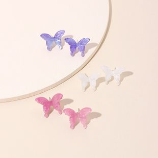 Fashion  new three-dimensional butterfly  Korea trendy fashion wild resin earrings wholesale nihaojewelry NHRN238323's discount tags