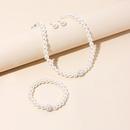 Fashion New Pearl simple bracelet  necklace earrings  Threepiece Set  wholesale  NHRN238329