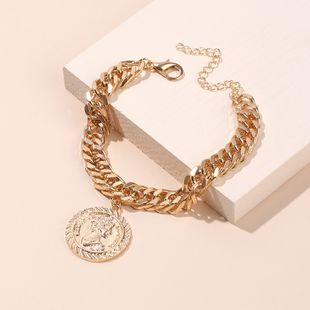 new fashion simple high-end lady retro thick chain bracelet nihaojewelry wholesale  NHRN238338's discount tags