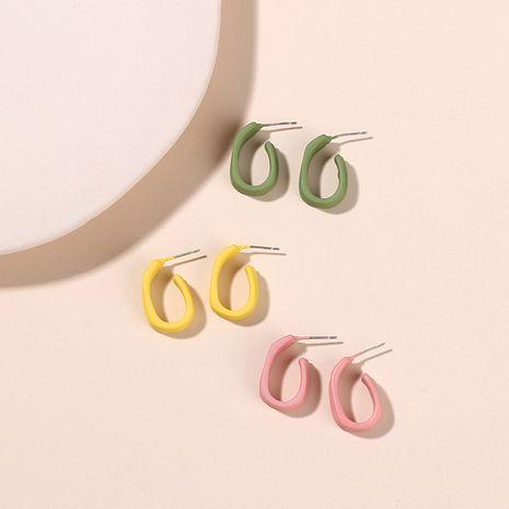 Fashion geometric hollow earrings alloy earrings Korea girl simple trendy earrings wholesale nihaojewelry NHRN238346's discount tags