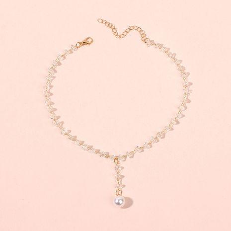 Coréen court dames cristal collier clavicule chaîne cou tour de cou gland perle pendentif en gros nihaojewelry NHRN238352's discount tags