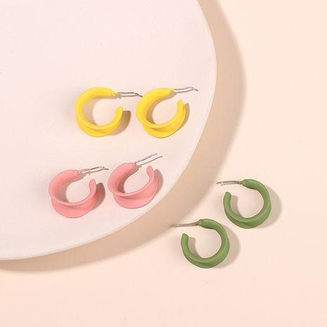 Fashion earrings new candy color fashion childlike C-shaped banana earrings alloy earrings wholesale nihaojewelry NHRN238356's discount tags