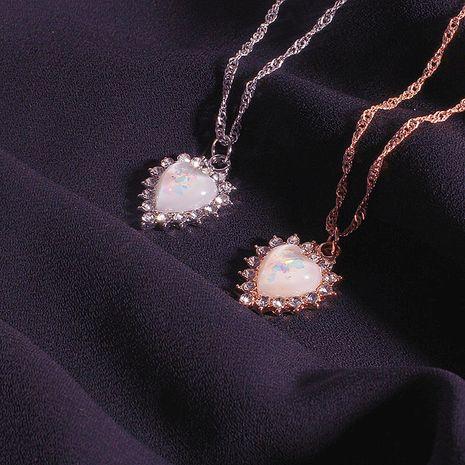 Corée Strass Zircon Chocker Collier Simple Opale Forêt Clavicule Chaîne En Gros Nihaojewelry NHRN238371's discount tags