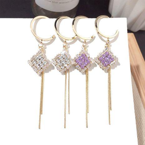 Nueva borla larga pendiente plata aguja al por mayor nihaojewelry NHFT238386's discount tags