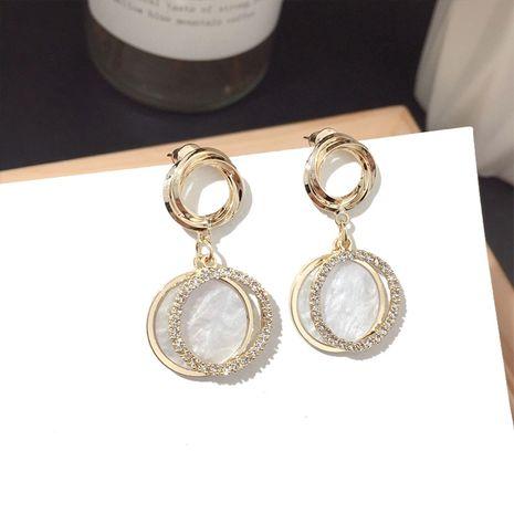Nueva ronda perla pendiente plata pin al por mayor nihaojewelry NHFT238390's discount tags