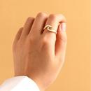 Fashion new oil painting wave ring fashion street shooting wild ring for women nihaojewelry NHOT238437