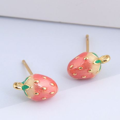 Korean fashion sweet OL strawberry earrings for women nihaojewelry NHSC238433's discount tags