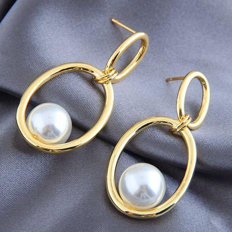 Boucles d'oreilles de mode coréenne pour femmes Boucles d'oreilles simples en perles nihaojewelry NHSC238432's discount tags