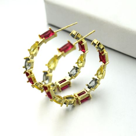 New trendy eaquisite copper red earrings for girls wholesale nihaojewelry NHLJ238448's discount tags