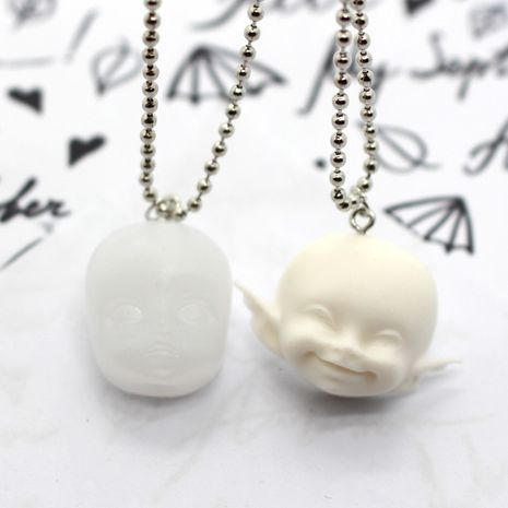 fashion jewelry Halloween elf head earrings doll resin earrings wholesale nihaojewelry NHGO238451's discount tags