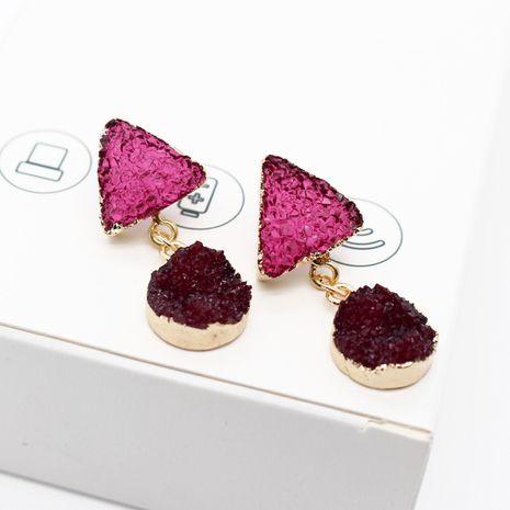 Nouveaux bijoux imitation boucles d'oreilles en pierre naturelle longues boucles d'oreilles en résine triangle en gros nihaojewelry NHGO238454's discount tags