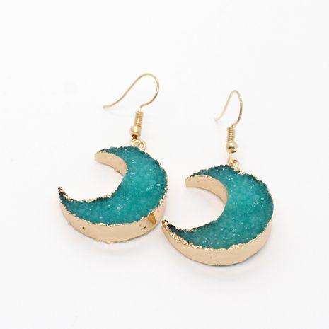 new jewelry imitation natural stone moon earrings retro ear hooks resin earrings wholesale nihaojewelry NHGO238459's discount tags