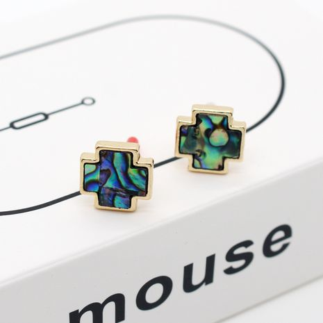 Korea abalone shell triangle shell women's earrings for women nihaojewlery NHGO238460's discount tags