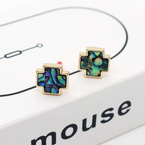 Boucle d'oreille coréenne en forme de coquille d'ormeau triangle pour femmes nihaojewlery NHGO238460's discount tags