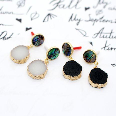 Pendientes de flor de sol de piedra natural de concha de abulón de moda para mujer nihaojewelry NHGO238461's discount tags