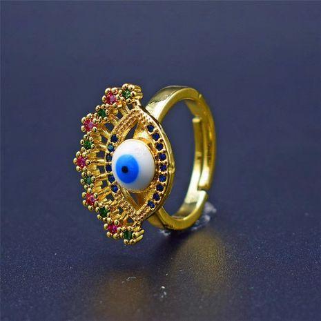 nouveau papillon démon oeil couleur zirconium bague en gros nihaojewelry NHGO238463's discount tags
