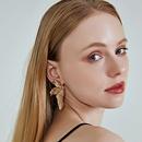 Fashion 925 sterling silver earrings simple new alloy leaf earrings nihaojewelry NHOA238470
