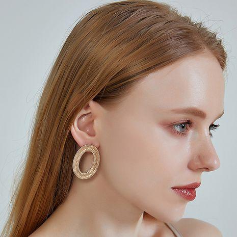 Nouveau S925 Boucles D'oreilles Aiguilles En Argent Alliage Minimaliste Motif De Vague Géométrique Boucles D'oreilles Ovales Pour Femmes NHOA238478's discount tags
