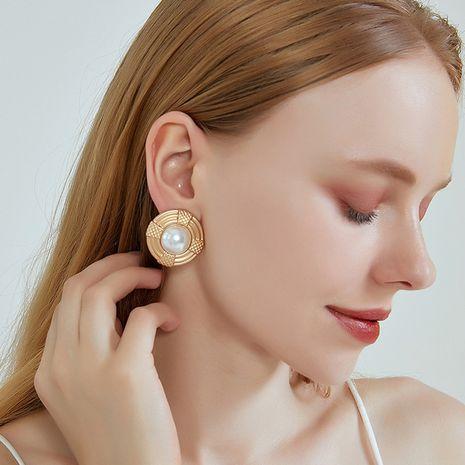 Nouvelles boucles d'oreilles S925 boucles d'oreilles en perles géométriques rondes à l'aiguille en argent pour les femmes NHOA238479's discount tags