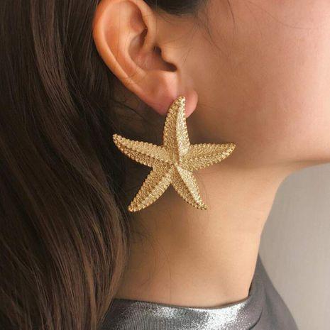 Vente chaude boucles d'oreilles nouvelles boucles d'oreilles en forme d'étoile en trois dimensions boucles d'oreilles en étoile de mer nihaojewelry NHOA238488's discount tags