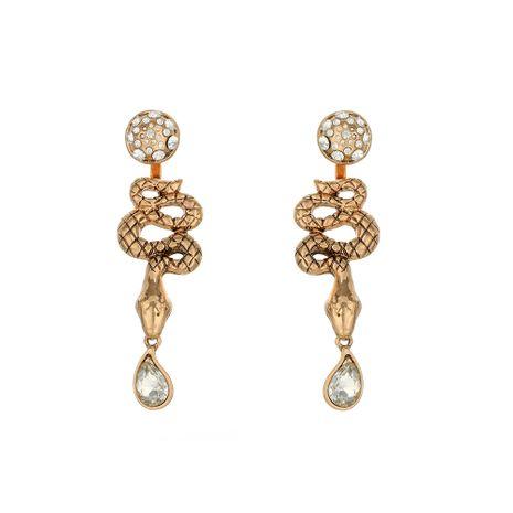 geometric diamond earrings drop earrings exaggerated retro snake-shaped earrings wholesale nihaojewelry NHOA238495's discount tags