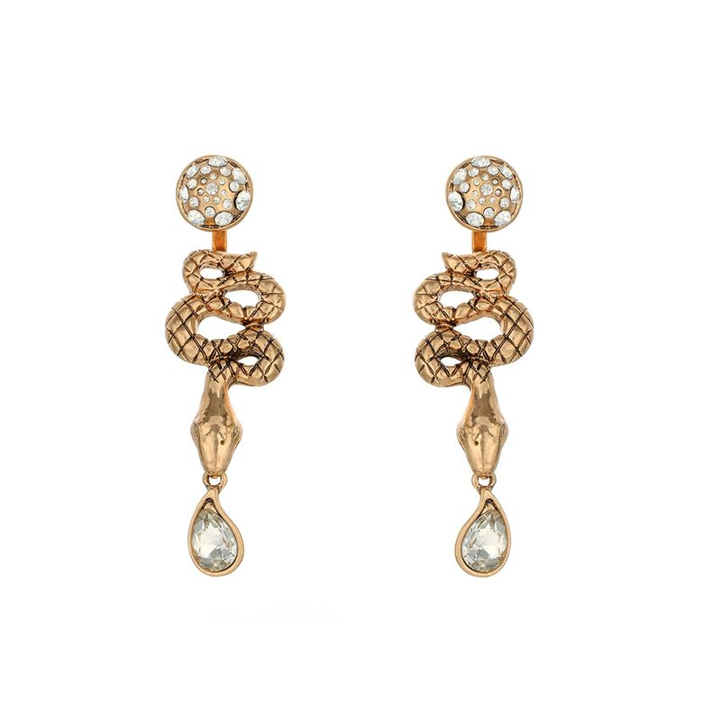 geometric diamond earrings drop earrings exaggerated retro snake-shaped earrings wholesale nihaojewelry NHOA238495