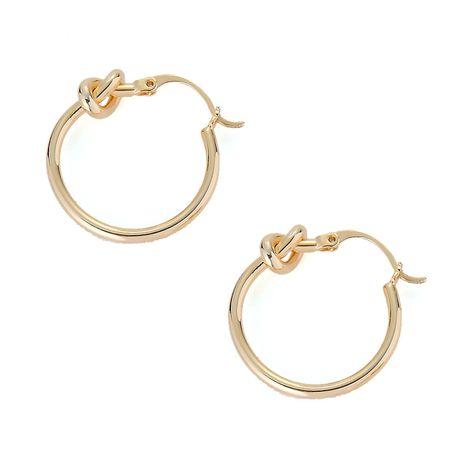Bijoux d'oreille de mode simples noeud concentrique creux cercle géométrique boucles d'oreilles nouées nihaojewelry NHOA238501's discount tags